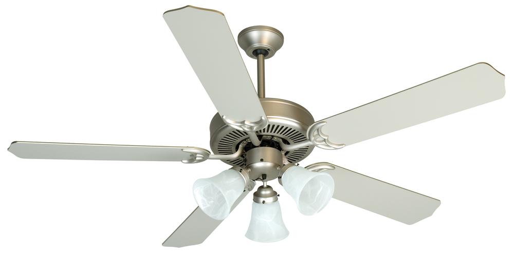 Pro builder 205 52 ceiling fan kit with light kit in brushed satin nickel