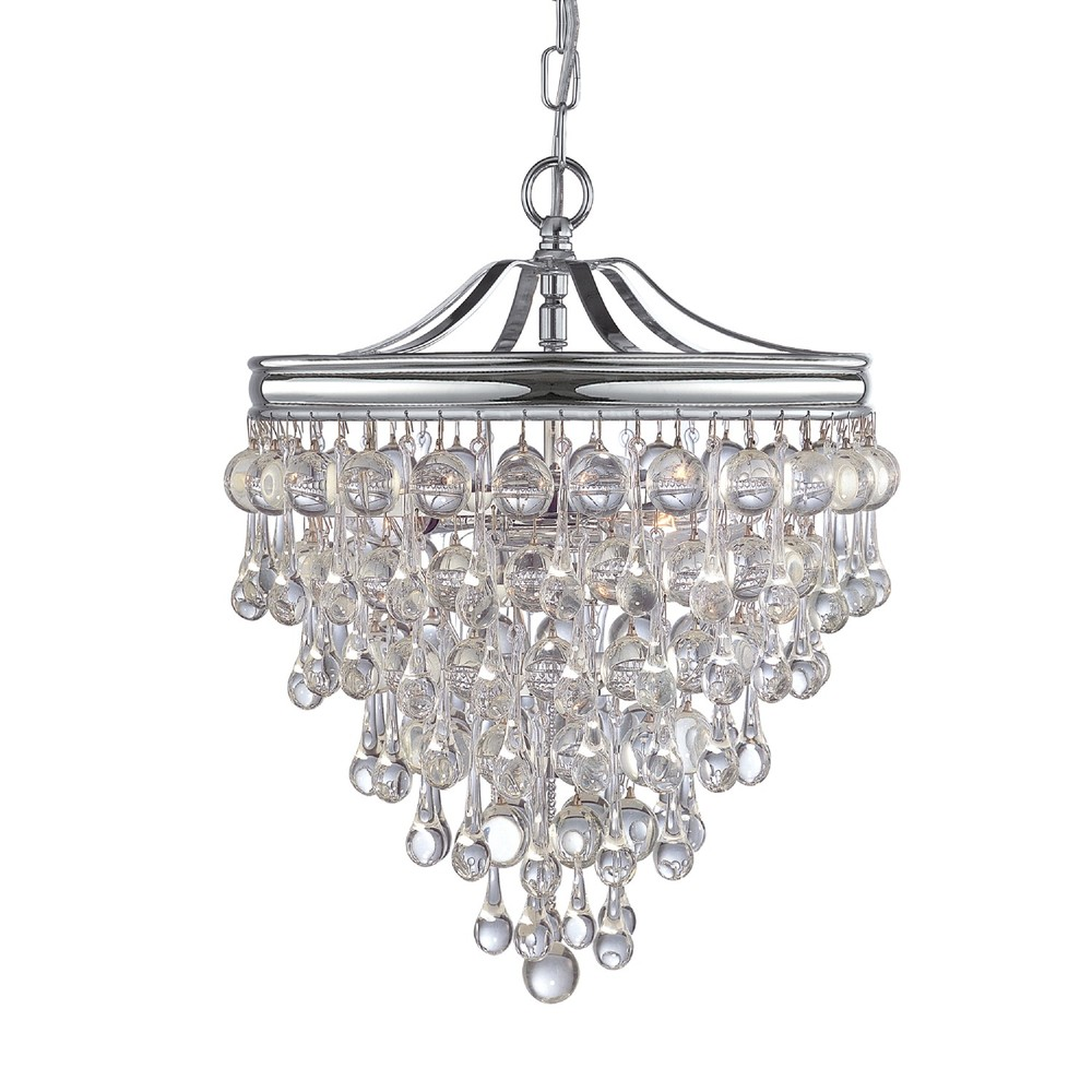 3 light polished chrome transitional mini chandelier draped in clear 3 light polished chrome transitional mini chandelier draped in clear glass drops arubaitofo Image collections