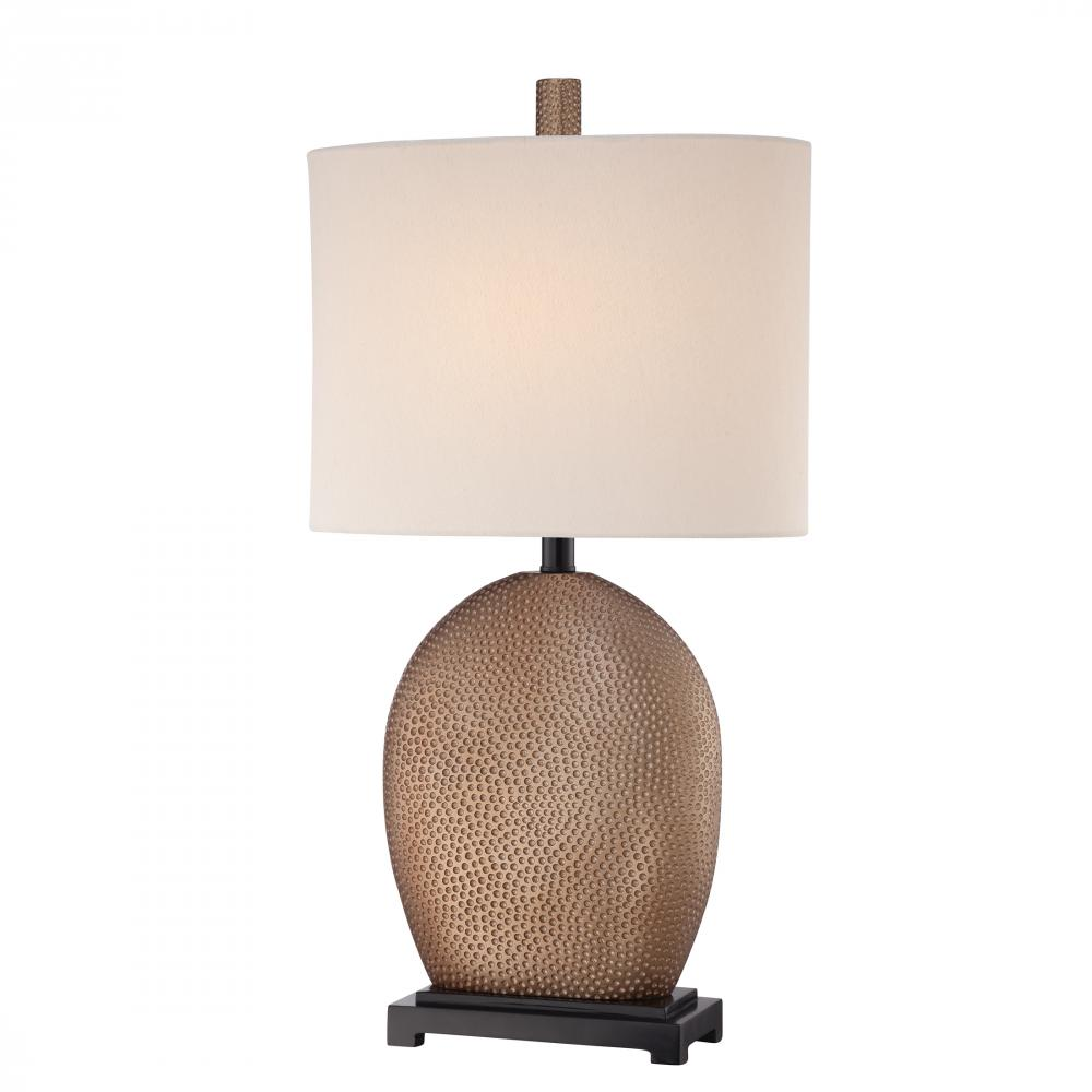 one light oval hardback shade table lamp e50y timberlake lighting. Black Bedroom Furniture Sets. Home Design Ideas
