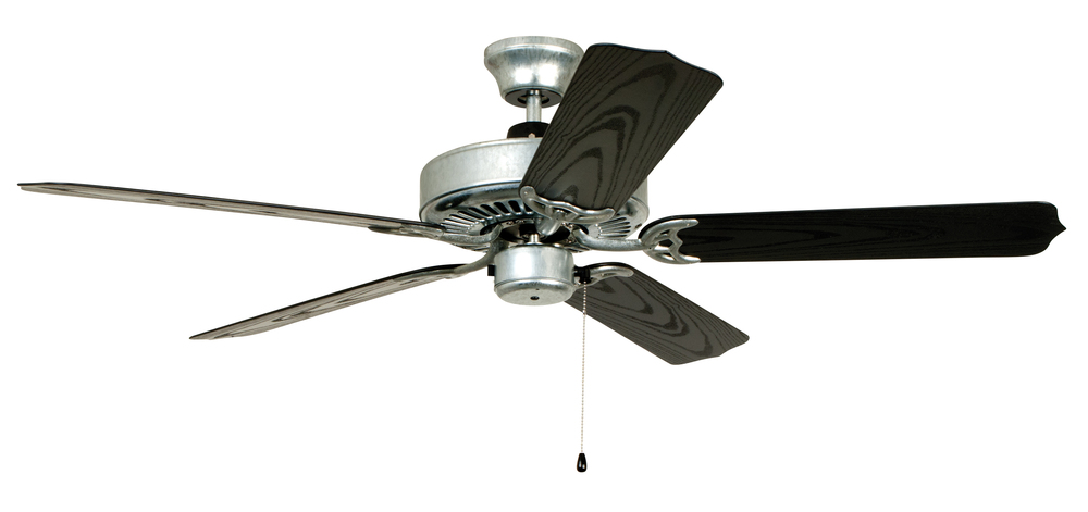 All weather 52 ceiling fan with blades in galvanized steel