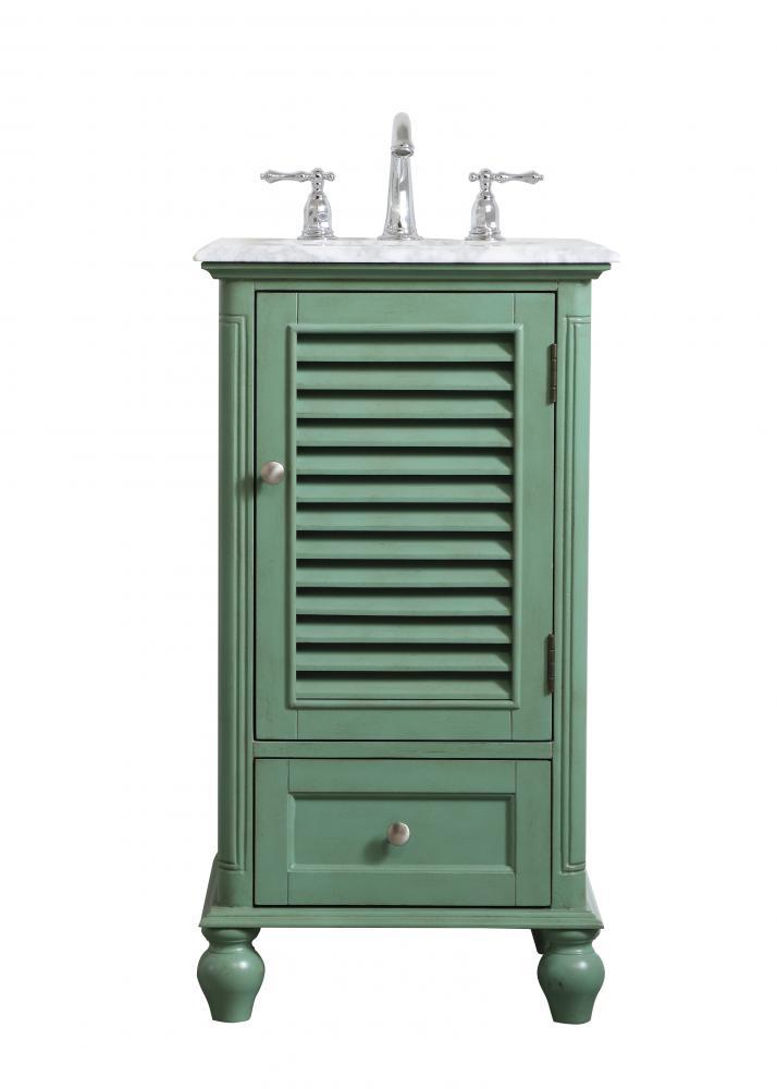19 Inch Single Bathroom Vanity In Vintage Mint J46ap Timberlake Lighting Of Lynchburg